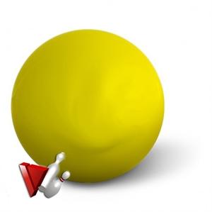 """Tekegolyó x """"Aramith"""" sárga 160 mm képe"""