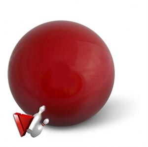 """Tekegolyó x """"Aramith"""" vörös 160 mm képe"""